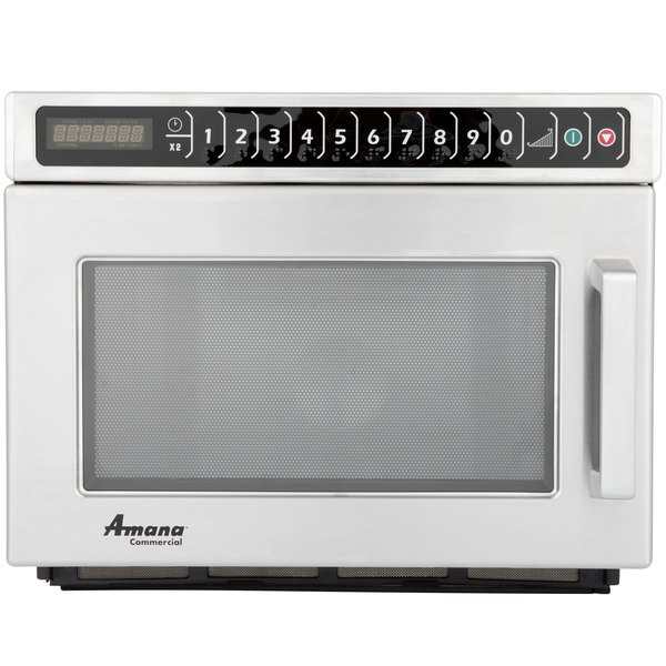 Amana HDC212 Heavy Duty Stainless Steel Commercial Microwave - 208/240V, 2100W