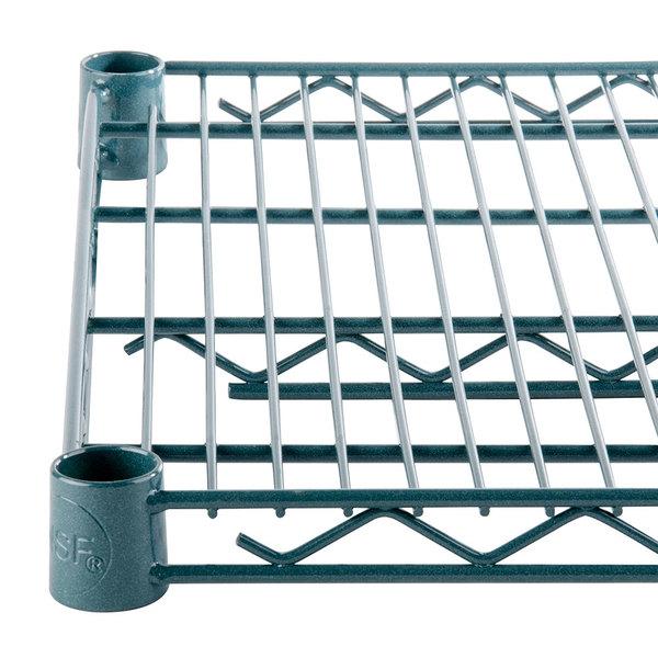 Regency 14 inch x 36 inch NSF Green Epoxy Wire Shelf