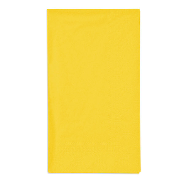 Hoffmaster 180540 Sun Yellow 15 inch x 17 inch Paper Dinner Napkins 2-Ply - 1000/Case