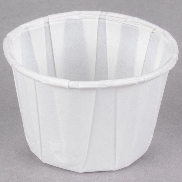 Dart Solo 200 2 oz. White Paper Souffle / Portion Cup - 5000/Case