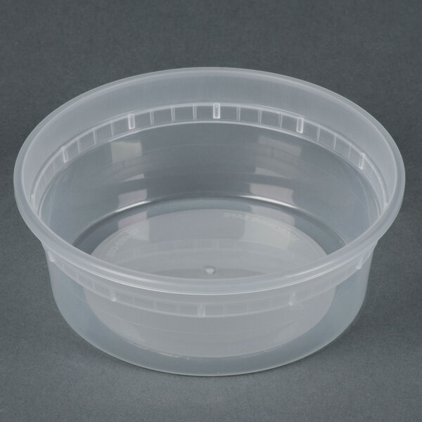 Newspring L5008Y 8 oz. Translucent Round Deli Container - 480/Case