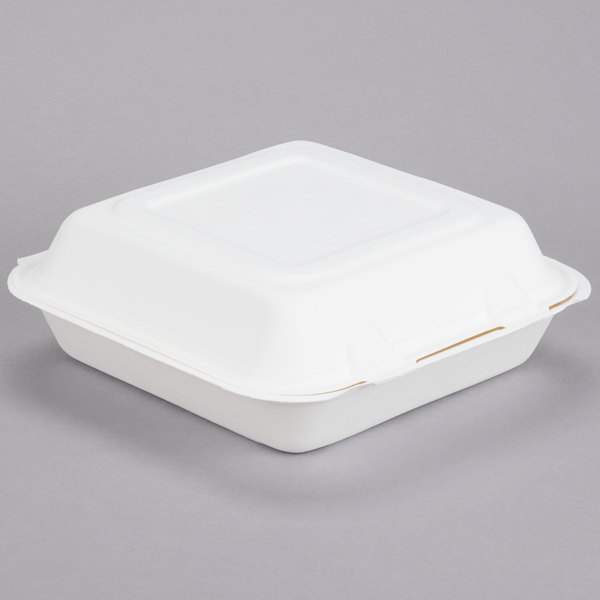 Dart Solo HC9SC Bare 9 inch Sugarcane Compostable Take out Container - 200 / Case