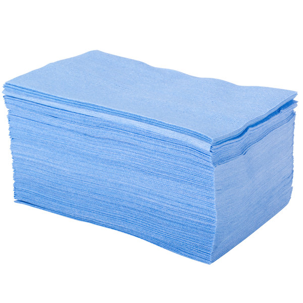 Lavex Janitorial 13 1/4 inch x 24 inch Blue Foodservice Wiper - 150/Case