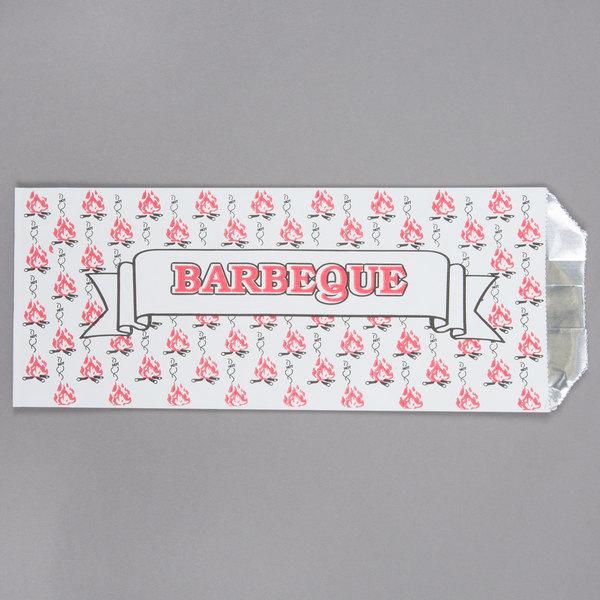 Pint Size Foil Barbeque BBQ Bag - 1000/Case