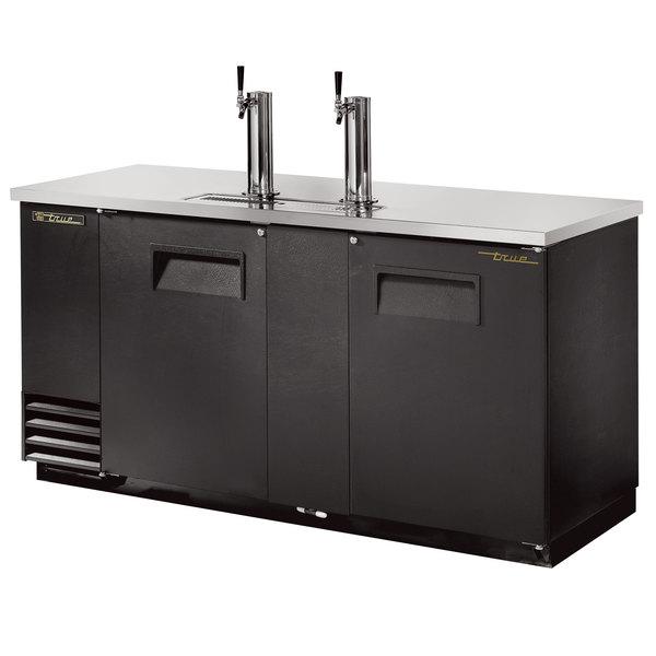 True TDD-3 Direct Draw Beer Dispenser 70 inch - 3 Keg Kegerator with 2 Taps