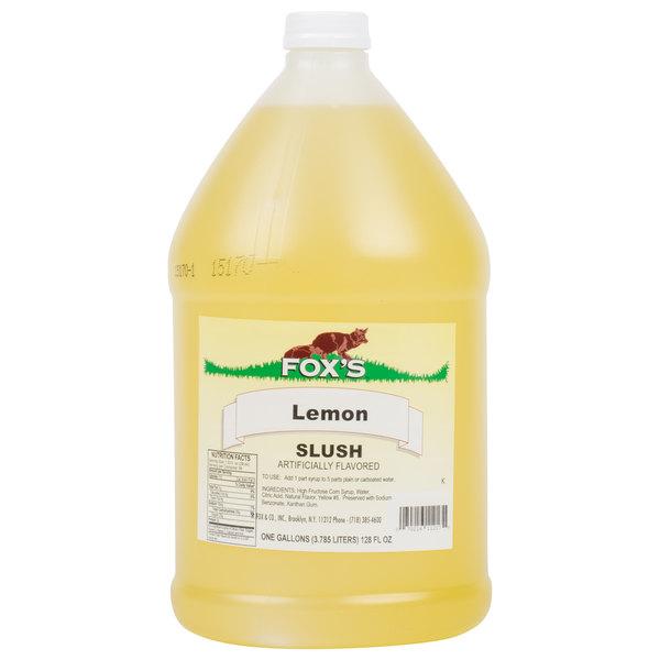 Fox's 1 Gallon Lemon Slush Syrup  - 4/Case