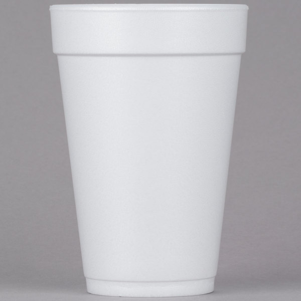 Dart Solo 16J16 16 oz. White Customizable Foam Cup - 1000/Case