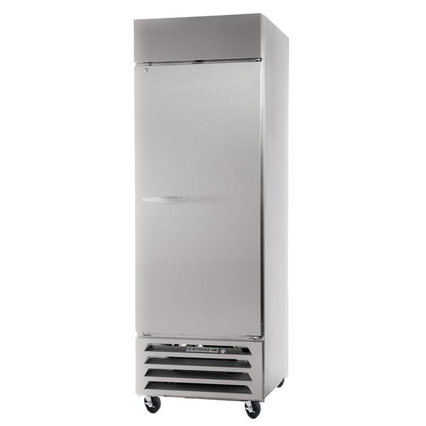 Beverage Air HBR27-1-S 30 inch Horizon Series One Section Solid Door Reach-In Refrigerator - 27 cu. ft.