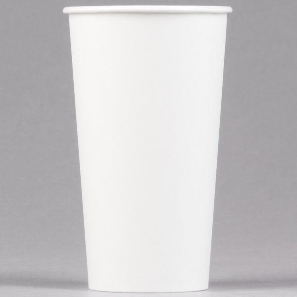 Dart Solo 420W-2050 20 oz. White Poly Paper Hot Cup - 600/Case
