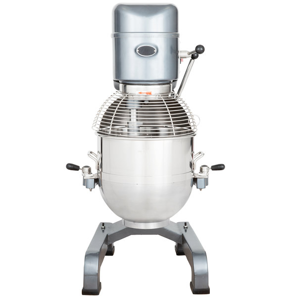 Avantco MX40 40 Qt. Gear Driven Commercial Planetary Floor Mixer with Stainless Steel Bowl Guard