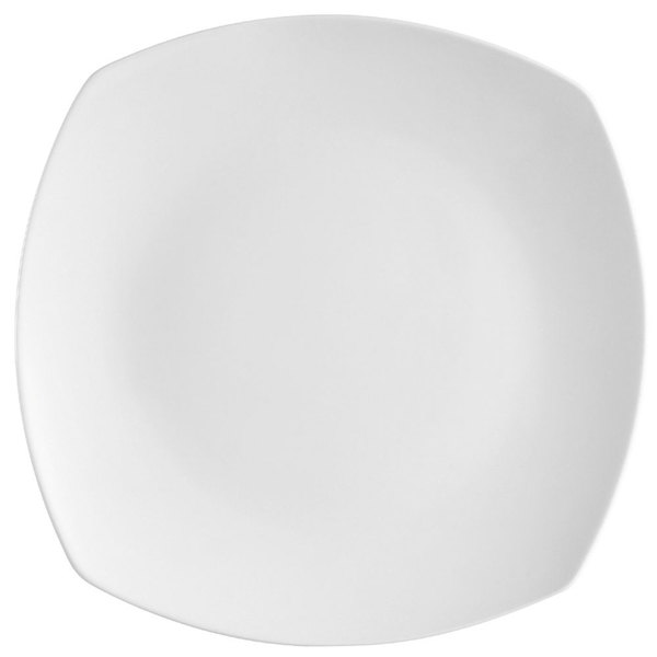 CAC COP-SQ7 7 1/2 inch Coupe Bright White Square Porcelain Plate  - 36/Case