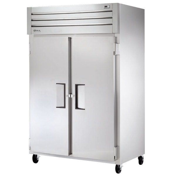 True STM2R-2S 52 inch Two Section Solid Door Reach in Refrigerator