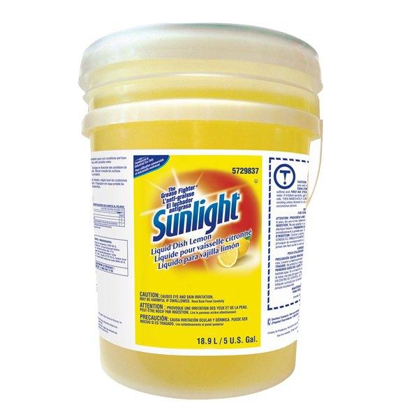 Diversey 95729837 Sunlight 5 Gallon Lemon Liquid Dish Soap