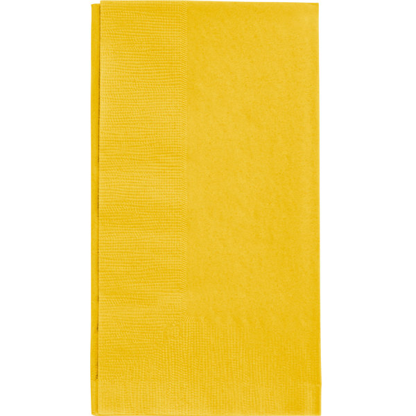 Choice 15 inch x 17 inch Customizable Sunny Yellow 2-Ply Paper Dinner Napkin - 1000/Case