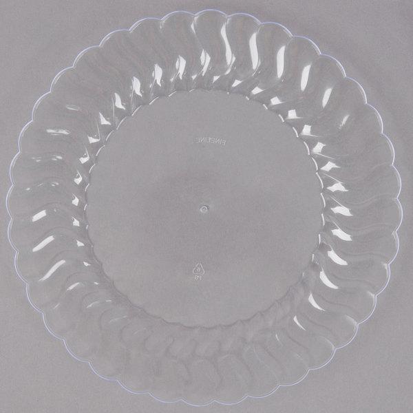 Fineline Flairware 207-CL 7 1/2 inch Clear Plastic Plate - 180/Case