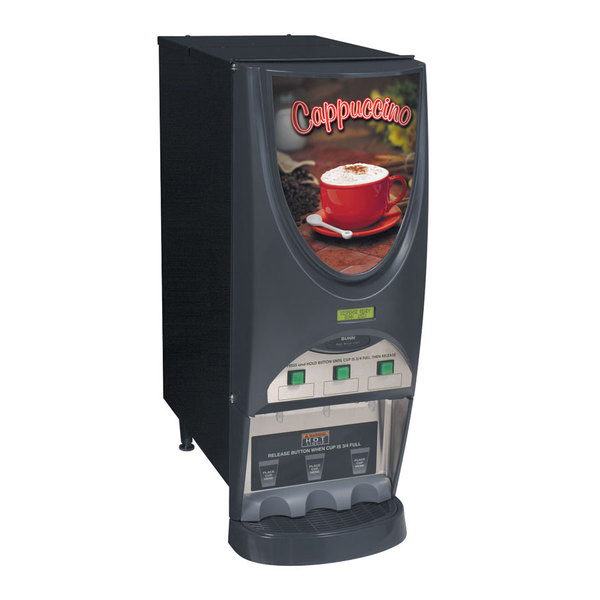 Bunn 38600.0050 iMIX-3S+ BLK Powdered Cappuccino Dispenser with 3 Hoppers - 120V
