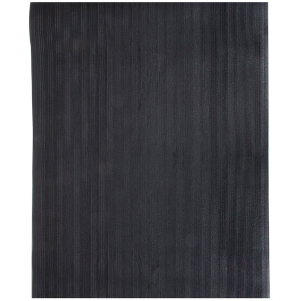Cactus Mat 1027-C35 Tredlite 3' x 5' Black Ribbed Vinyl Anti-Fatigue Mat - 3/8 inch Thick