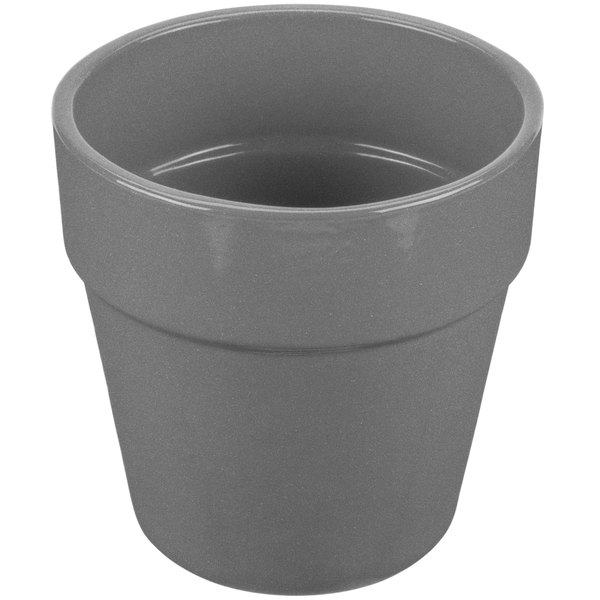 Tablecraft CW1445GR 2 Qt. Granite Cast Aluminum Round Condiment Bowl