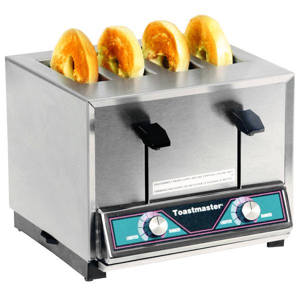 Toastmaster BTW24 4 Slice Commercial Pop-up Bagel Toaster - 208/240V, 1600/1800W