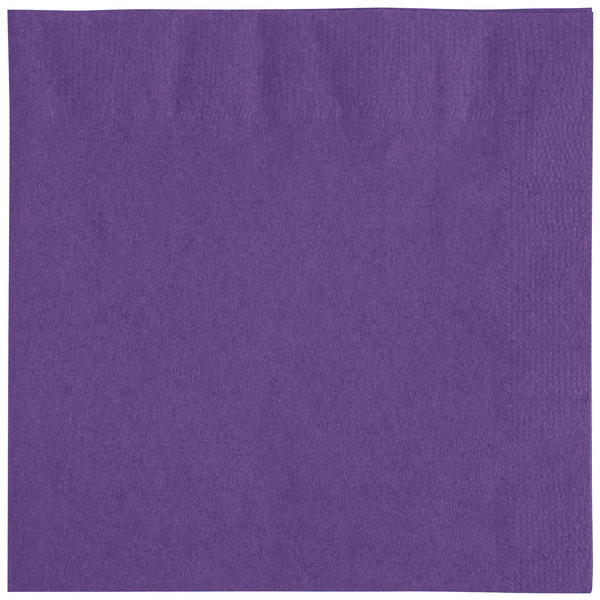 Choice 10 inch x 10 inch Customizable Purple 2-Ply Beverage / Cocktail Napkins - 1000 / Case