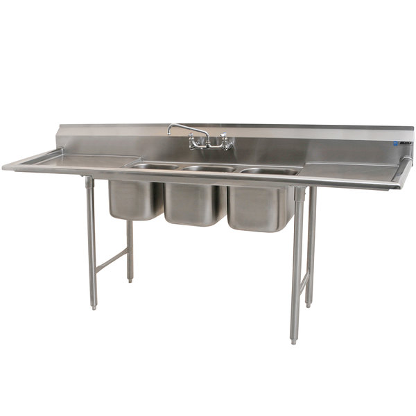 Eagle Group 310 10 3 24 Three Compartment Stainless Steel