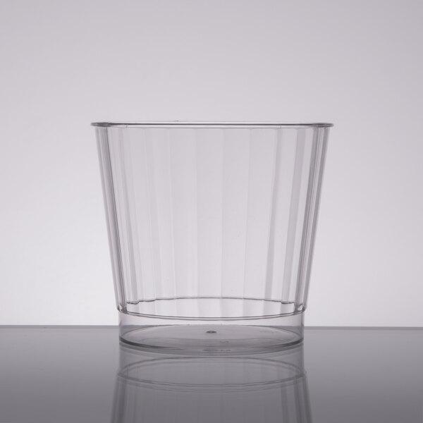 Fineline Renaissance 2409 9 oz. Clear Hard Plastic Crystal Tumbler - 20/Pack
