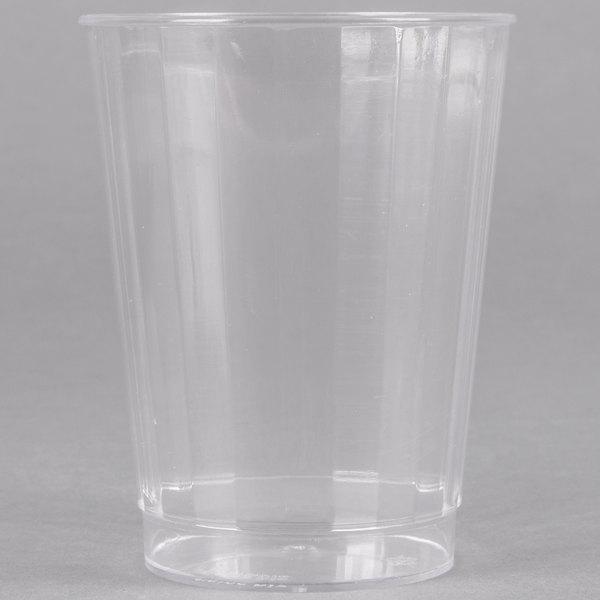 Fineline Renaissance 2410-CL 10 oz. Clear Hard Plastic Crystal Tumbler - 20/Pack