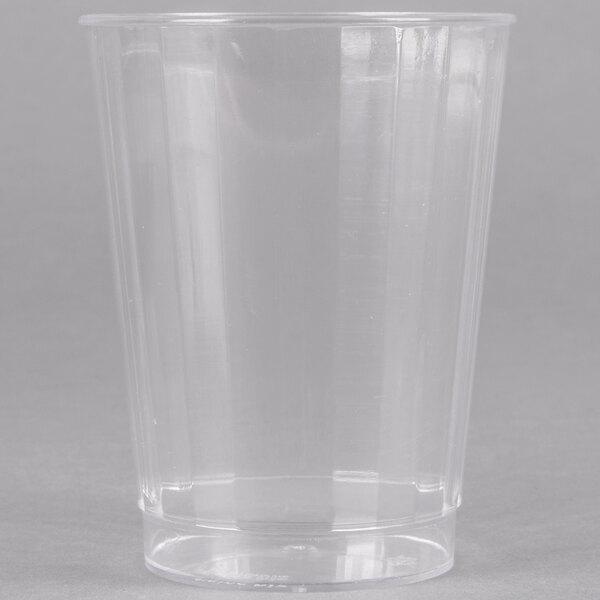 Fineline Renaissance 2410 10 oz. Clear Hard Plastic Crystal Tumbler - 240/Case