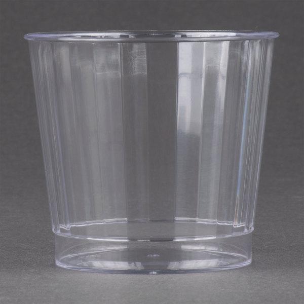 Fineline Renaissance 2409-CL 9 oz. Clear Hard Plastic Crystal Tumbler - 240/Case