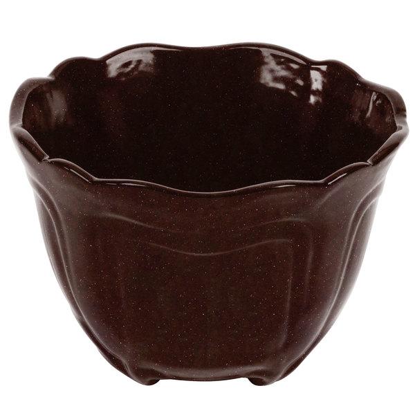 Tablecraft CW1454MIS 1.3 Qt. Midnight Speckle Cast Aluminum Condiment Bowl