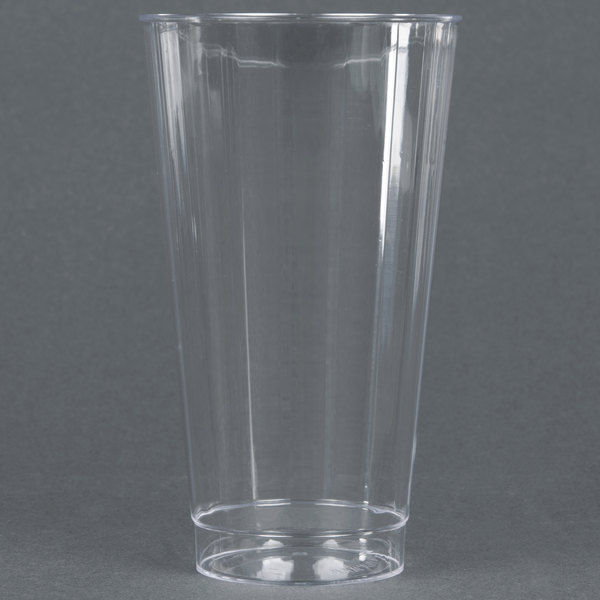 WNA Comet CC16240 Classicware 16 oz. Tall Clear Plastic Fluted Tumbler - 240/Case