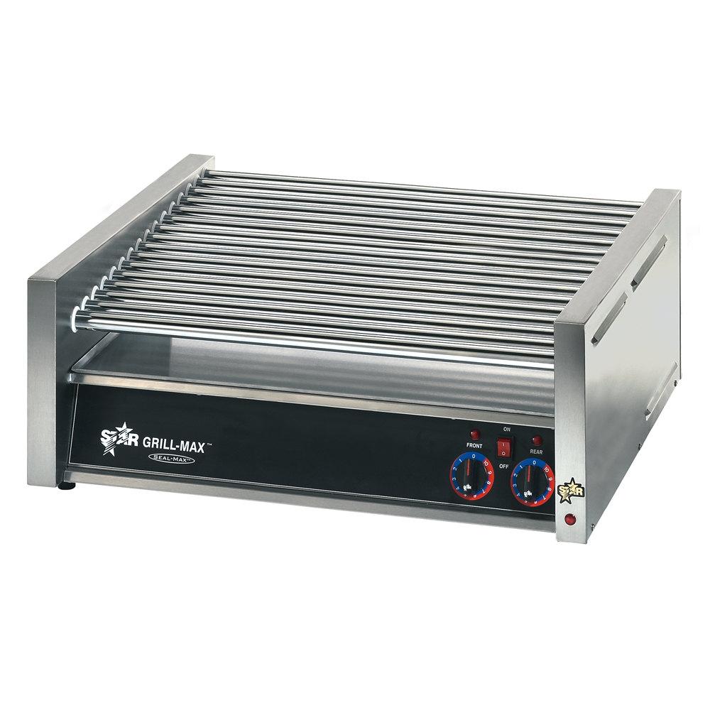 120v star 75c grill max 75 hot dog roller grill with chrome rollers slanted. Black Bedroom Furniture Sets. Home Design Ideas