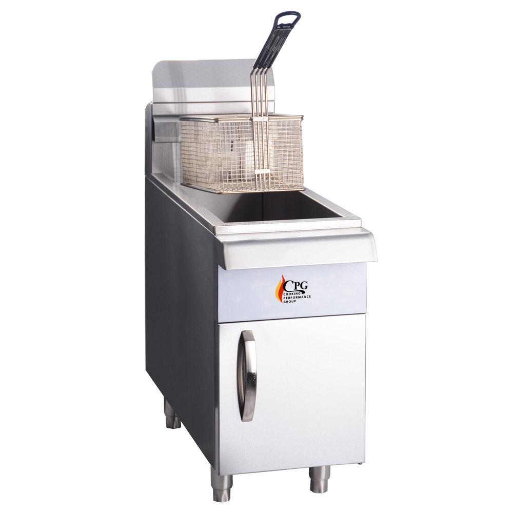 ... Performance Group CF15 15 lb. Gas Countertop Fryer - 26,500 BTU