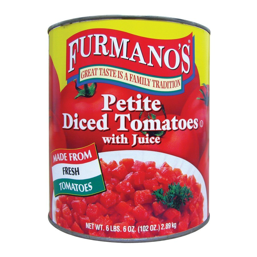 10 Can Petite Diced Tomatoes with Juice - 6/Case