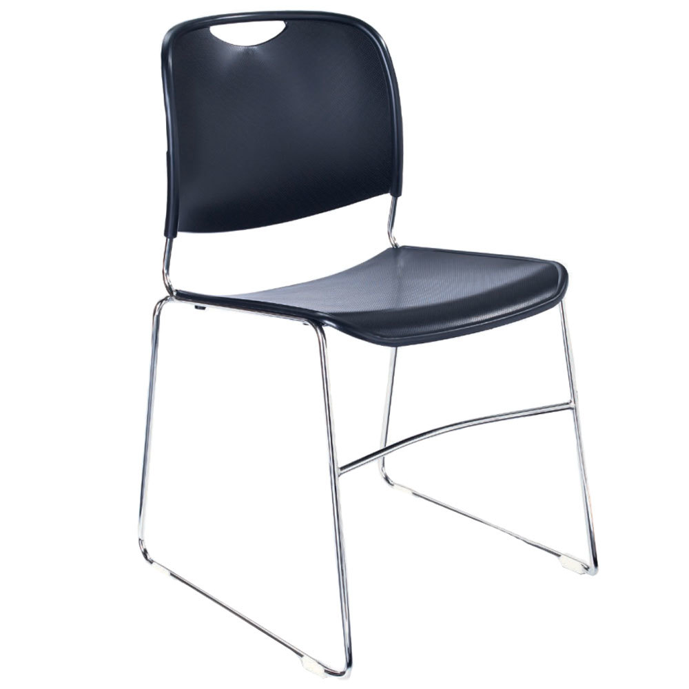 National Public Seating 8505 Navy Blue Stackable Ultra Compact Plastic Chair