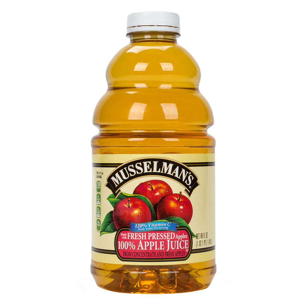 musselmans apple juice with vitamin c 48 oz bottle