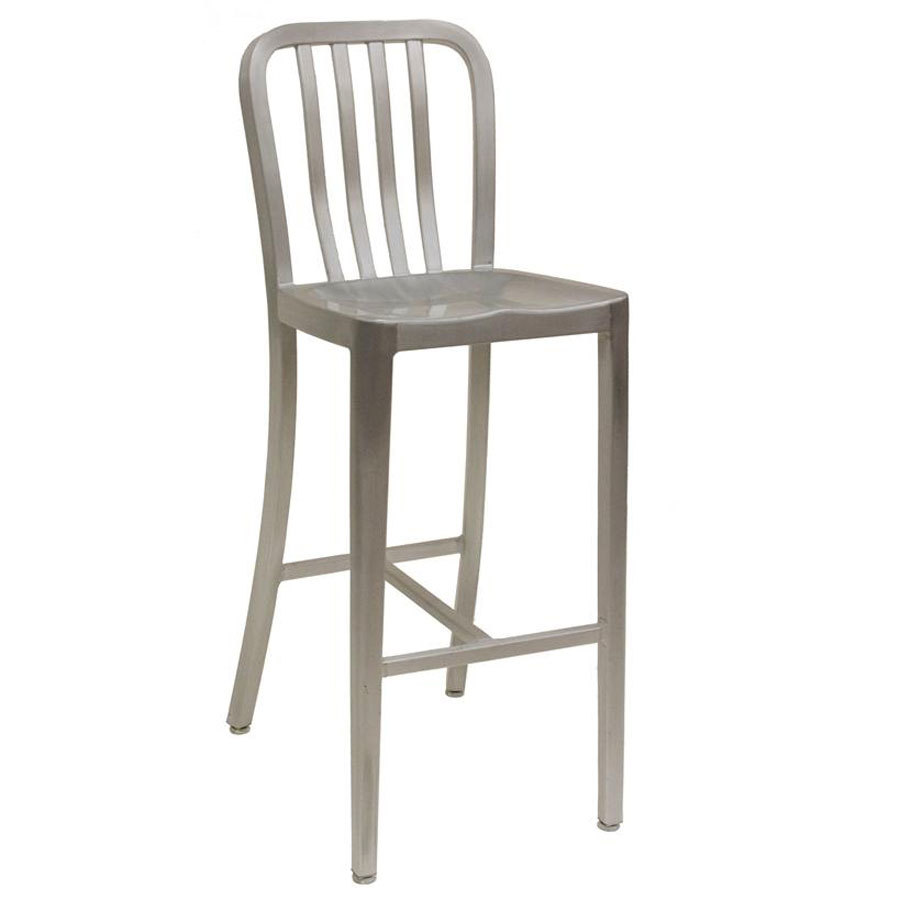 American Tables Amp Seating 57 Bs Armless Slat Back Aluminum