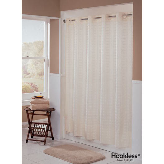 hookless beige litchfield shower curtain with matching. Black Bedroom Furniture Sets. Home Design Ideas