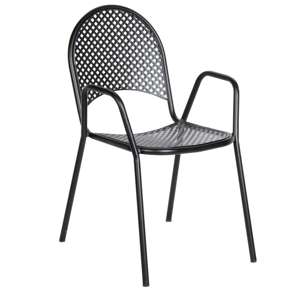 black metal patio chairs image. Black Bedroom Furniture Sets. Home Design Ideas