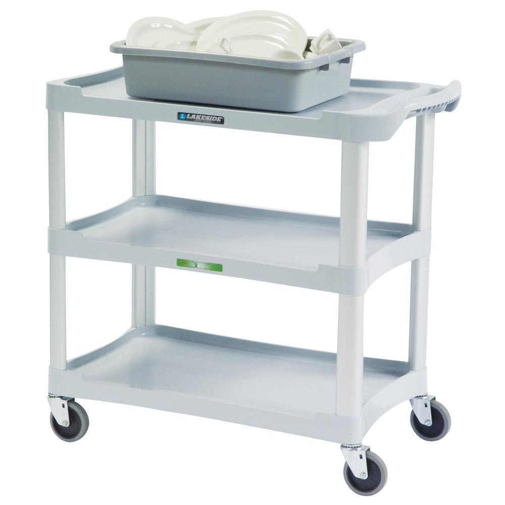 lakeside 2501 standard duty gray plastic three shelf. Black Bedroom Furniture Sets. Home Design Ideas