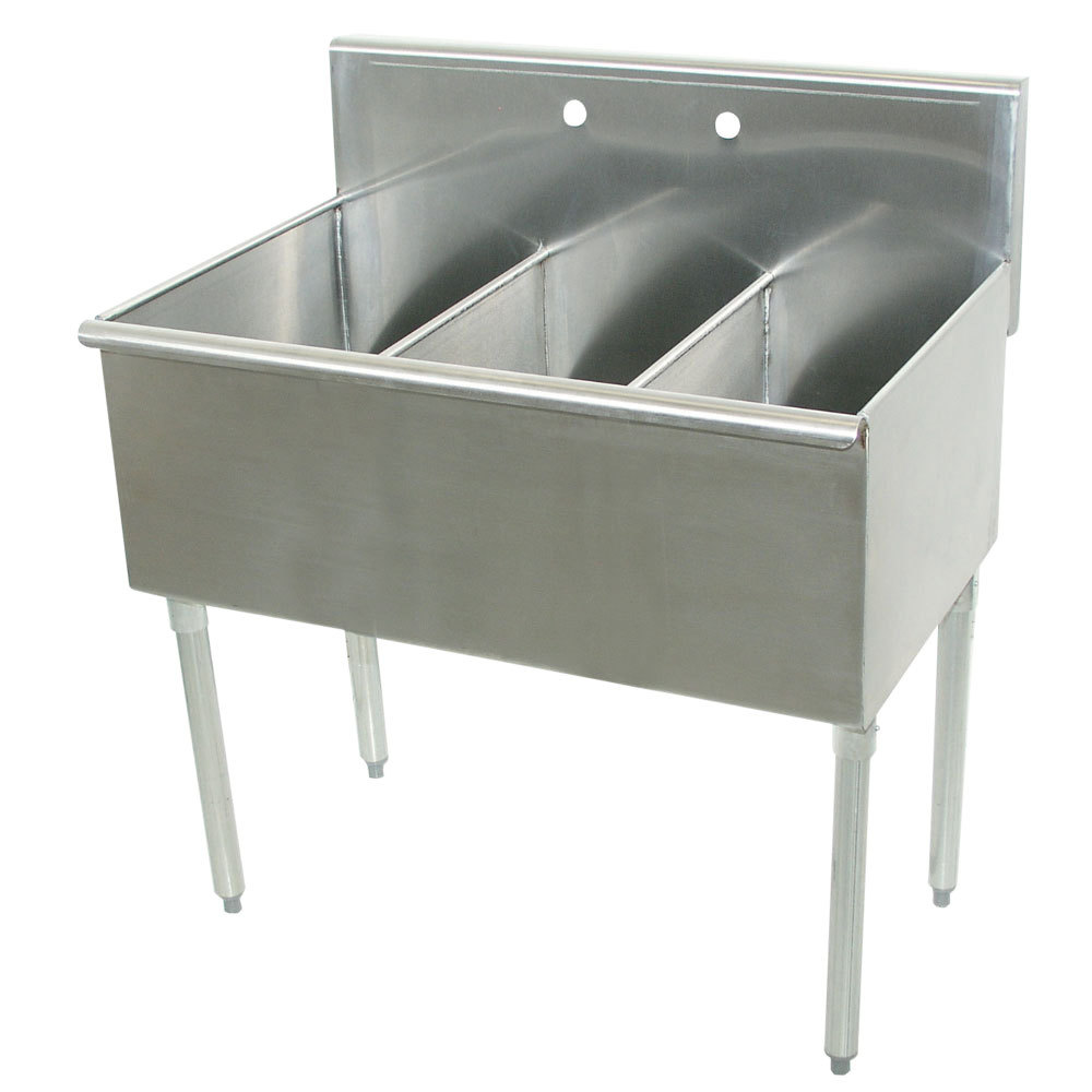 Commercial Sinks Australia : ... Tabco 4-3-72 Three Compartment Stainless Steel Commercial Sink - 72