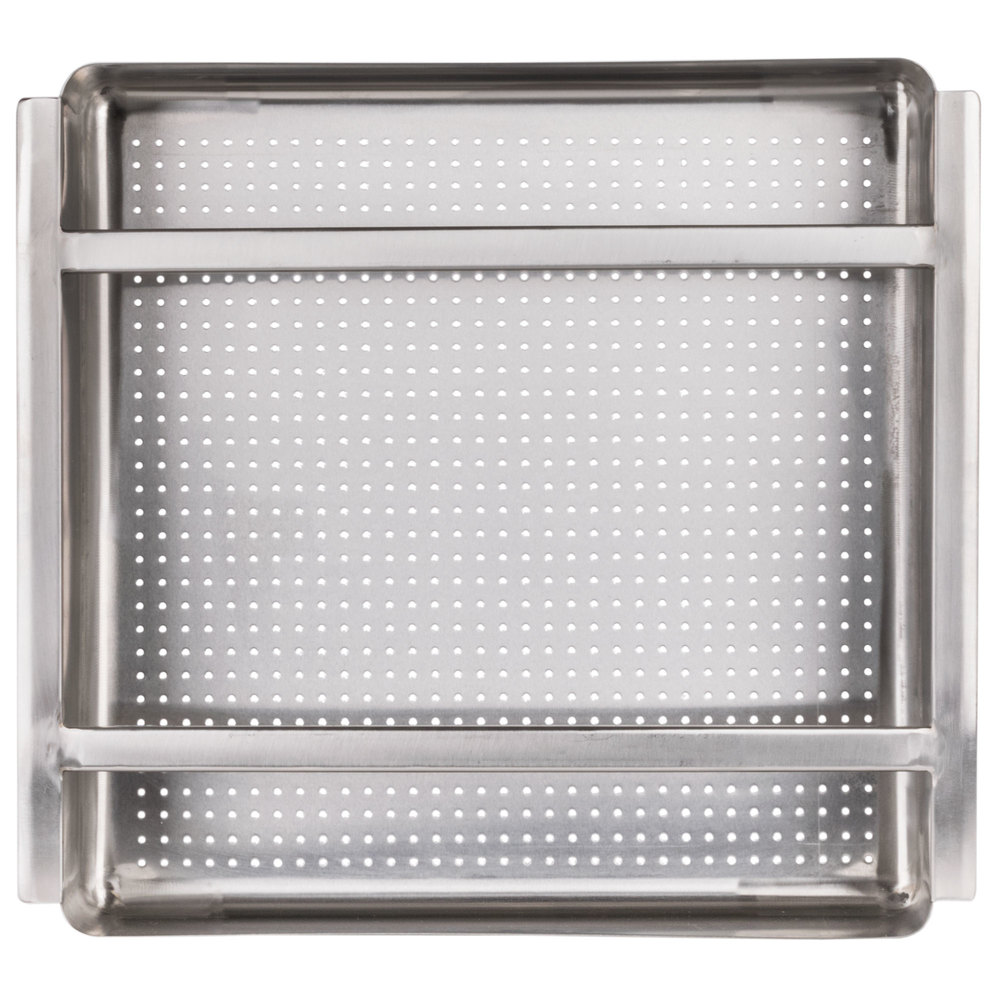 Pre Rinse Sink : ... Stainless Steel Scrap / Pre-Rinse Basket with Stainless Steel Slides