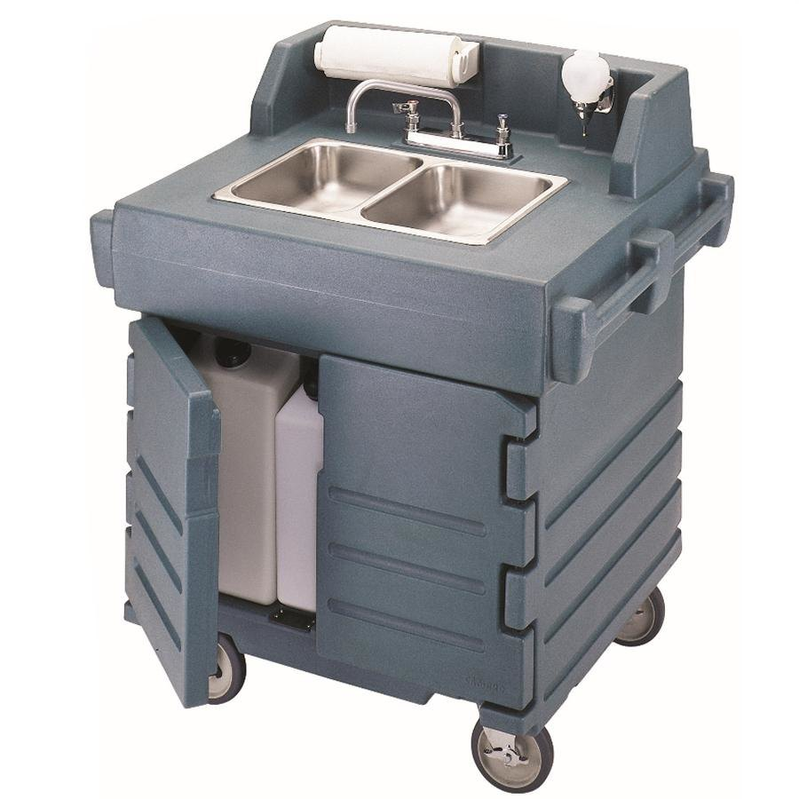 Portable Utility Sink : ... Granite Gray CamKiosk Portable Self-Contained Hand Sink Cart - 110V