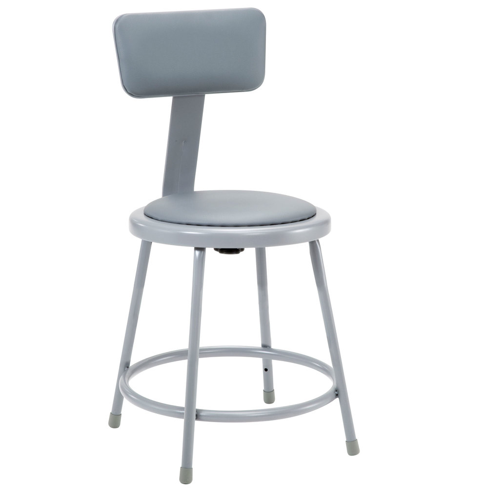 National Public Seating 6418b 18 Quot Gray Round Padded Lab