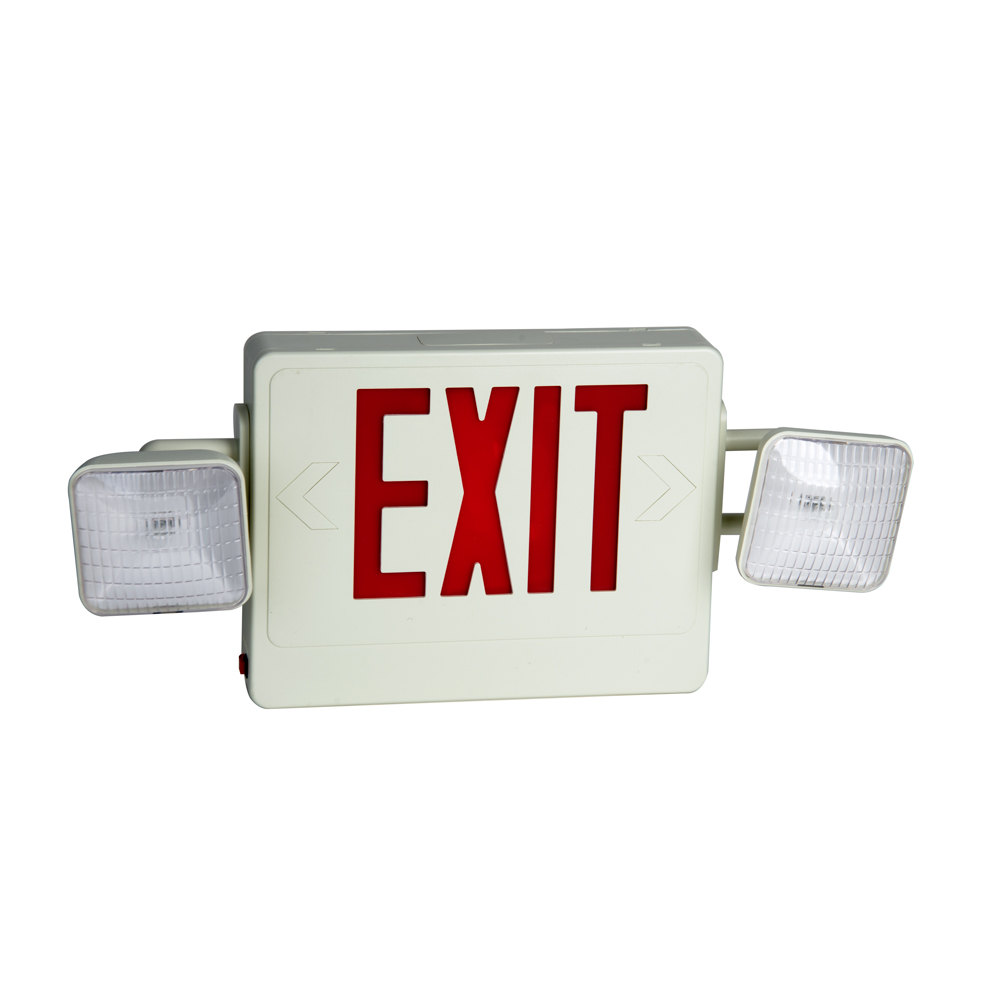 exit sign and emergency light combination with battery. Black Bedroom Furniture Sets. Home Design Ideas