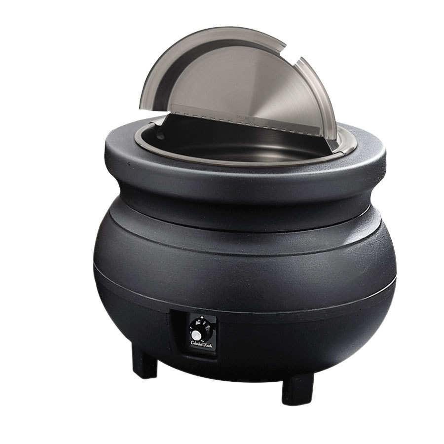 Restaurant Soup Warmer ~ Vollrath colonial qt black kettle soup warmer