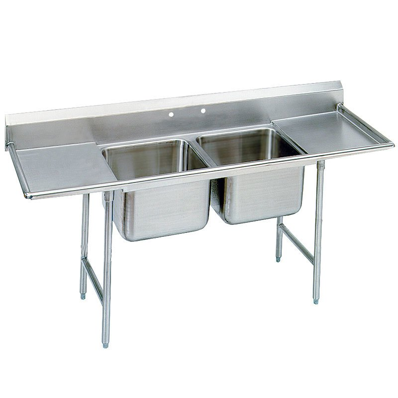 Stainless Industrial Sink : ... Compartment Stainless Steel Commercial Sink with Two Drainboards- 81