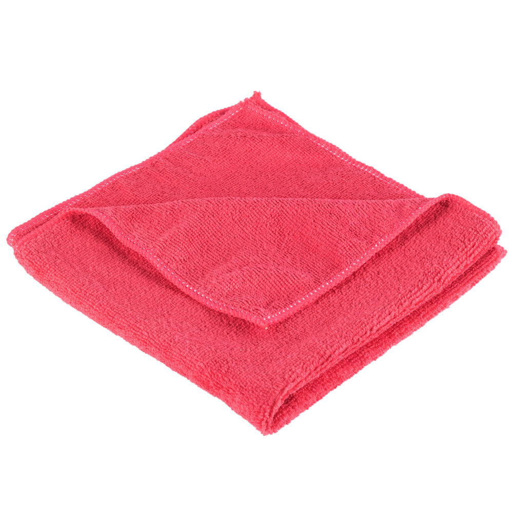 "3m Microfiber Lens Cleaning Cloth Pack Of 10: Unger ME40R SmartColor MicroWipe 16"" X 16"" Red UltraLite"