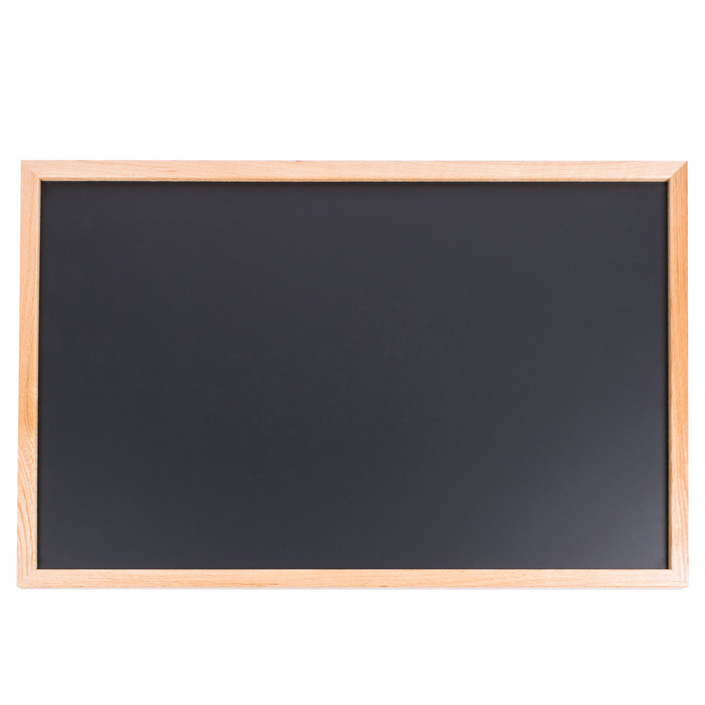 24u0026quot; x 36u0026quot; Oak Frame Black Chalk Board