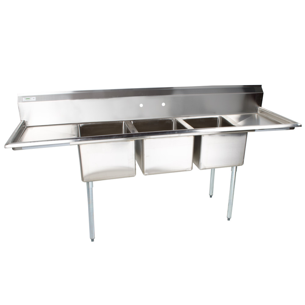 16 Gauge Stainless Steel Sink : Regency 91